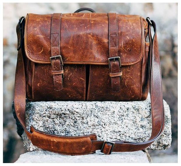 винтажная сумка из коричневой кожи