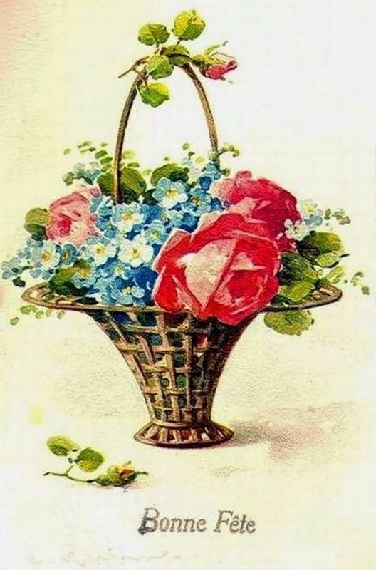 корзина сцветами