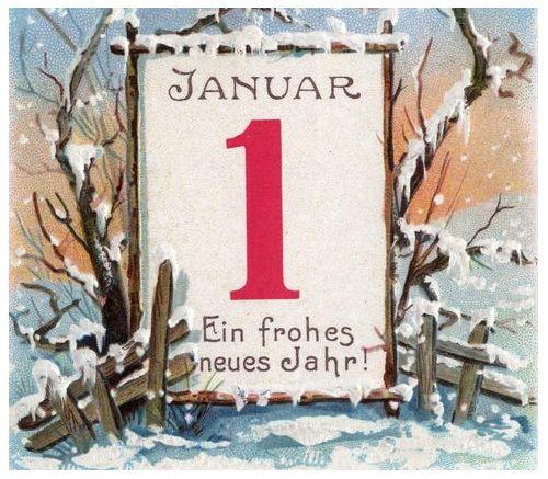 лист календаря 1 января