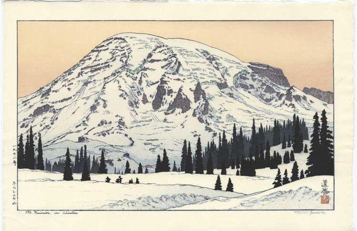 вид на гору зимой