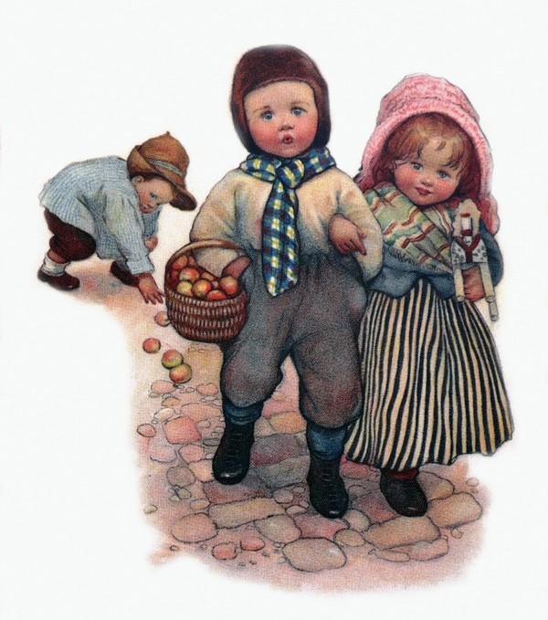 открытка девочка и мальчик