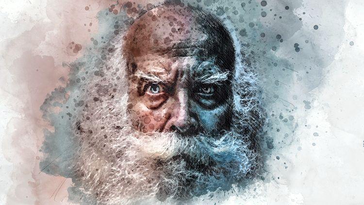 старый мужчина с бородой