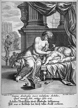 Фетида и маленький Ахилл
